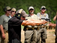 Chris Costa shooting the ATEi/Costa Pistol