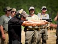 Chris Costa shooting the ATEi/Costa Pistol